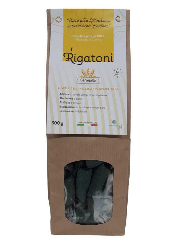 Rigatoni Artigianali alla Spirulina 100% made in Cilento